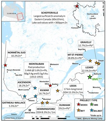 Quebec GenEx Project Map